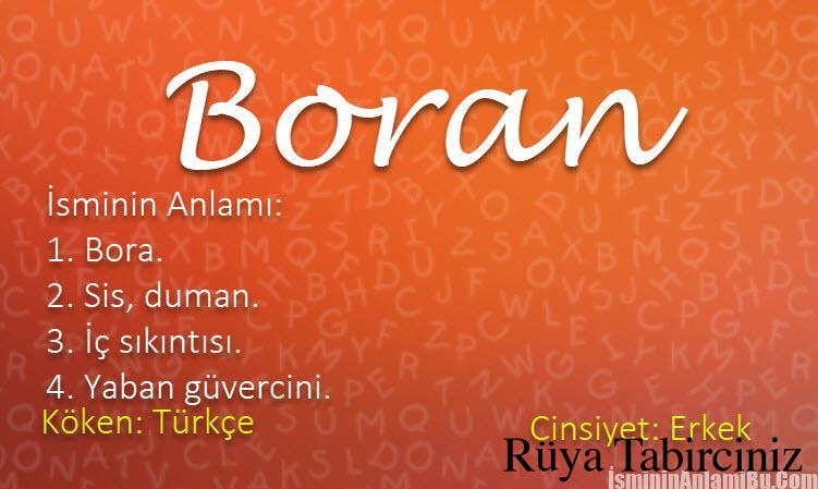 Boran isminin anlamı