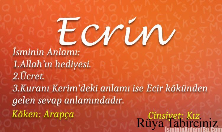 Ecrin isminin anlamı