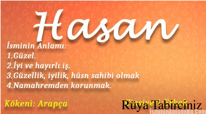 Hasan isminin anlamı