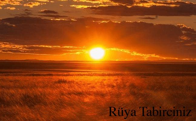 Rüyada gün batımı