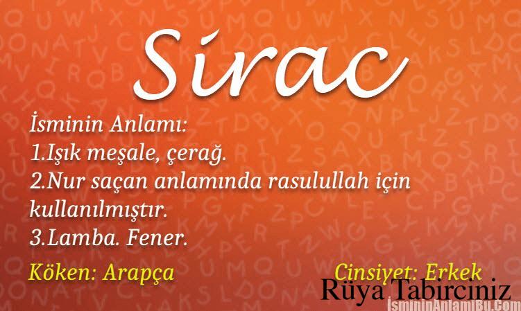 Sirac isminin anlamı